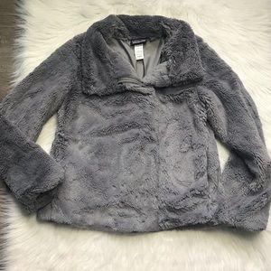 Patagonia gray Pelage faux fur soft jacket S
